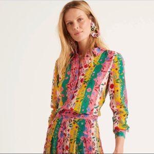 Boden silk floral shirt